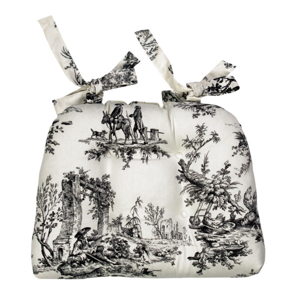 Bouvier Black Kitchen Collection - Pack of 4 Chairpads 2950 - Toile