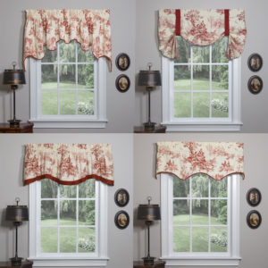 Link to Bouvier Red Window Treatments Category Page