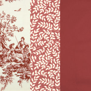 Bouvier Red Fabric By the Yard and Swatch 7100