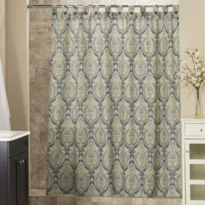Park Ave Collection Shower Curtain with Tabs