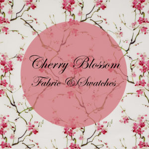 Cherry Blossom Fabric and Swatch