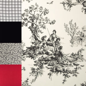 image of each fabric in Bouvier Black Collection 2950